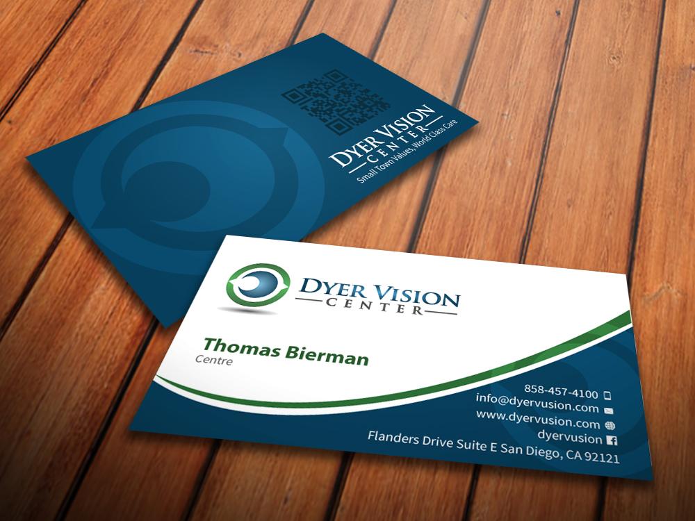 196 business card designs healthcare business card design project business card design by mediaproductionart for dyer vision center design 3731710 colourmoves