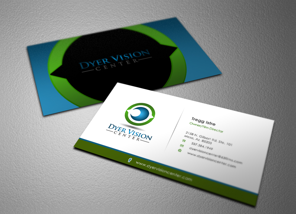Business Card Design for Dyer Vision Center by Eggo May P | Design ...