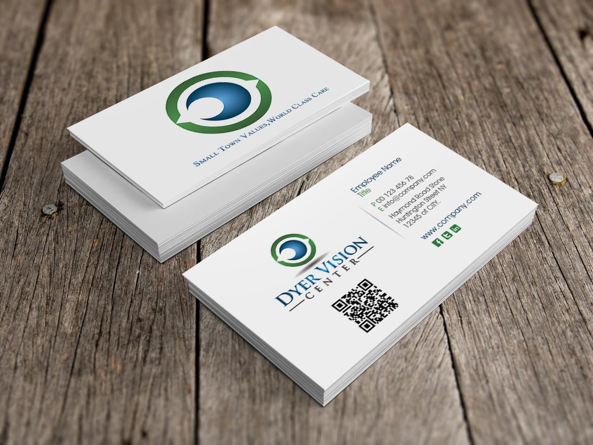 business card design for dyer vision centergtools  design