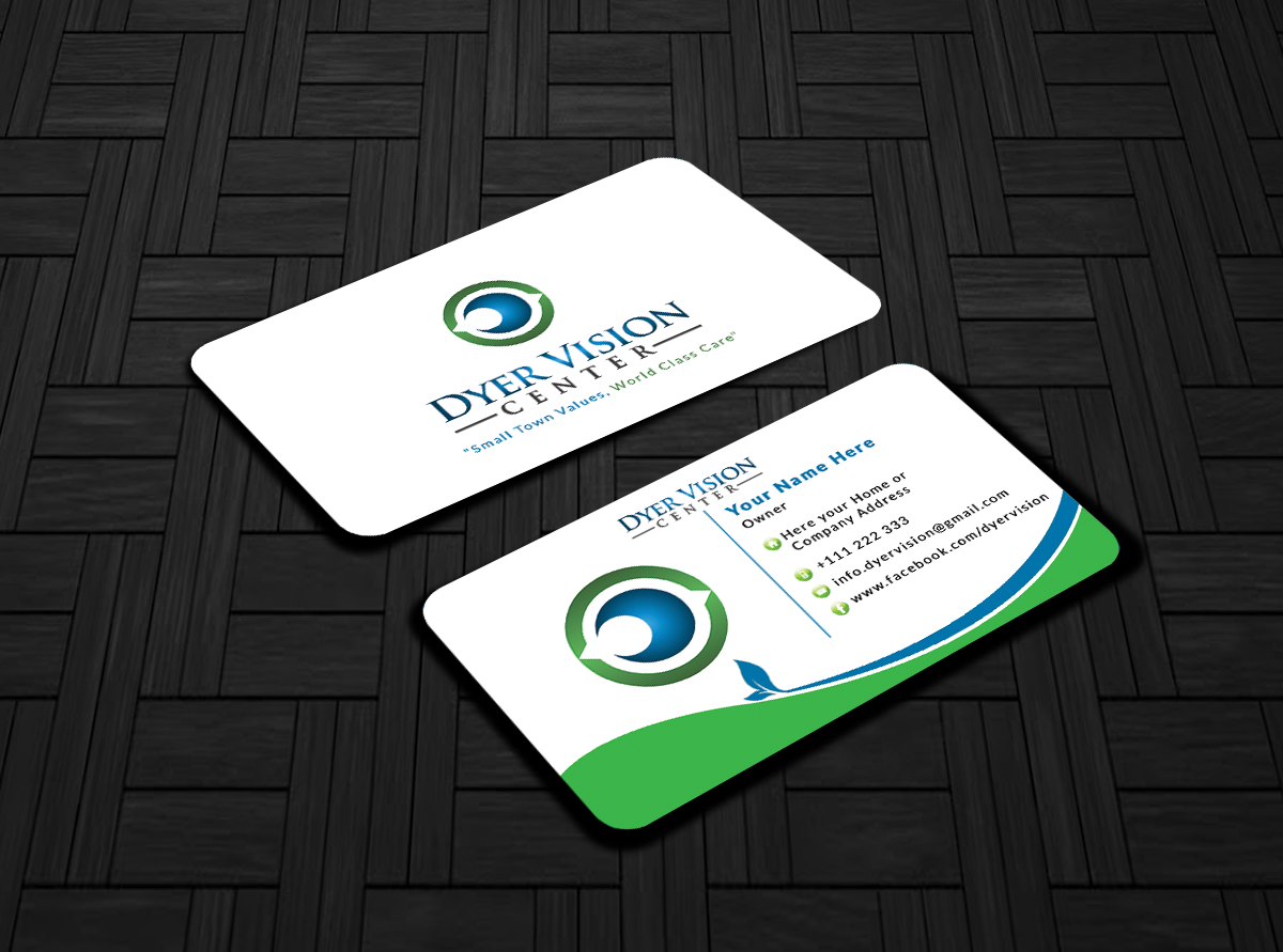 Healthcare Business Card Design for Dyer Vision Center by ...