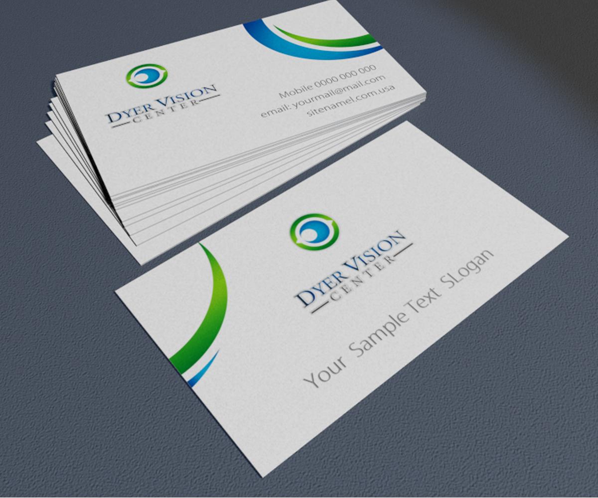 Business card design for dyer vision center by tamriko design business card design by tamriko for eye doctor needs updated business card design 3720041 magicingreecefo Images