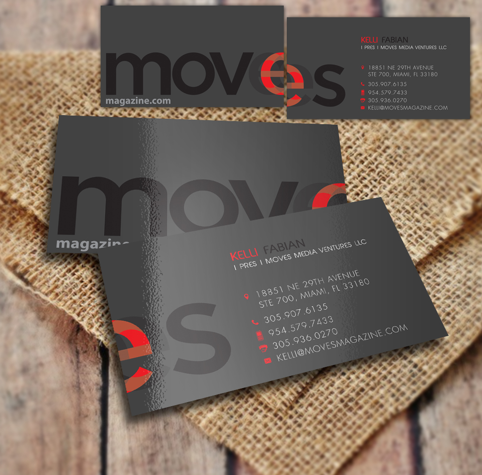 Entertainment Business Card Design For Moves Media Ventures Llc By