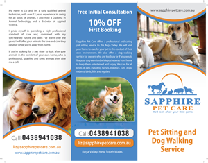 pet sitting brochure designs 8 pet sitting brochures to browse
