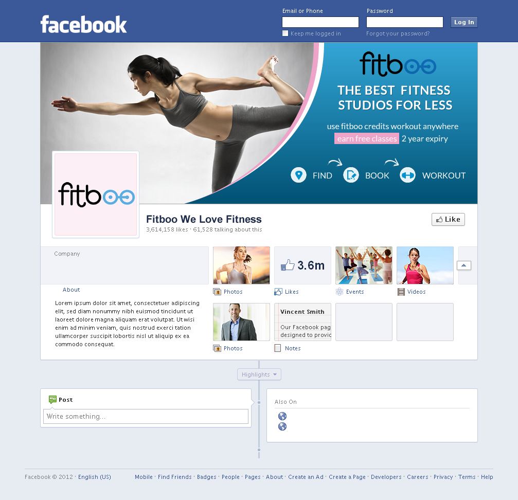 Upmarket personable facebook design for fitboo by sbss Create a blueprint online