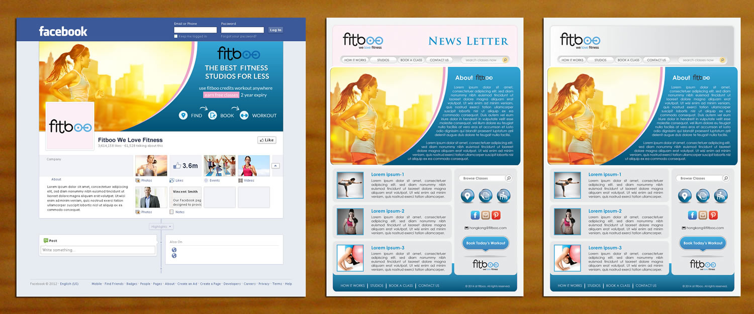 Upmarket Facebook Designs Fitness Facebook Design Project For - Mailchimp template ideas