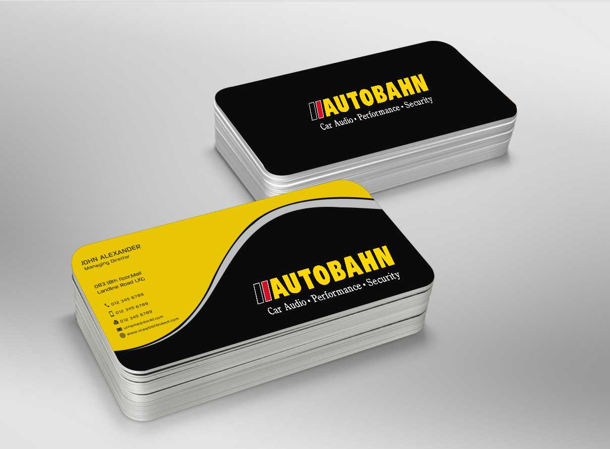 business card design by xtremecreative45 for autobahn design 3700600