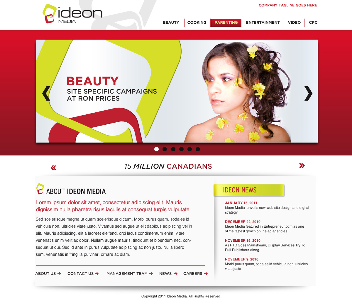38 Elegant Web Designs | Media Web Design Project for a Business in ...