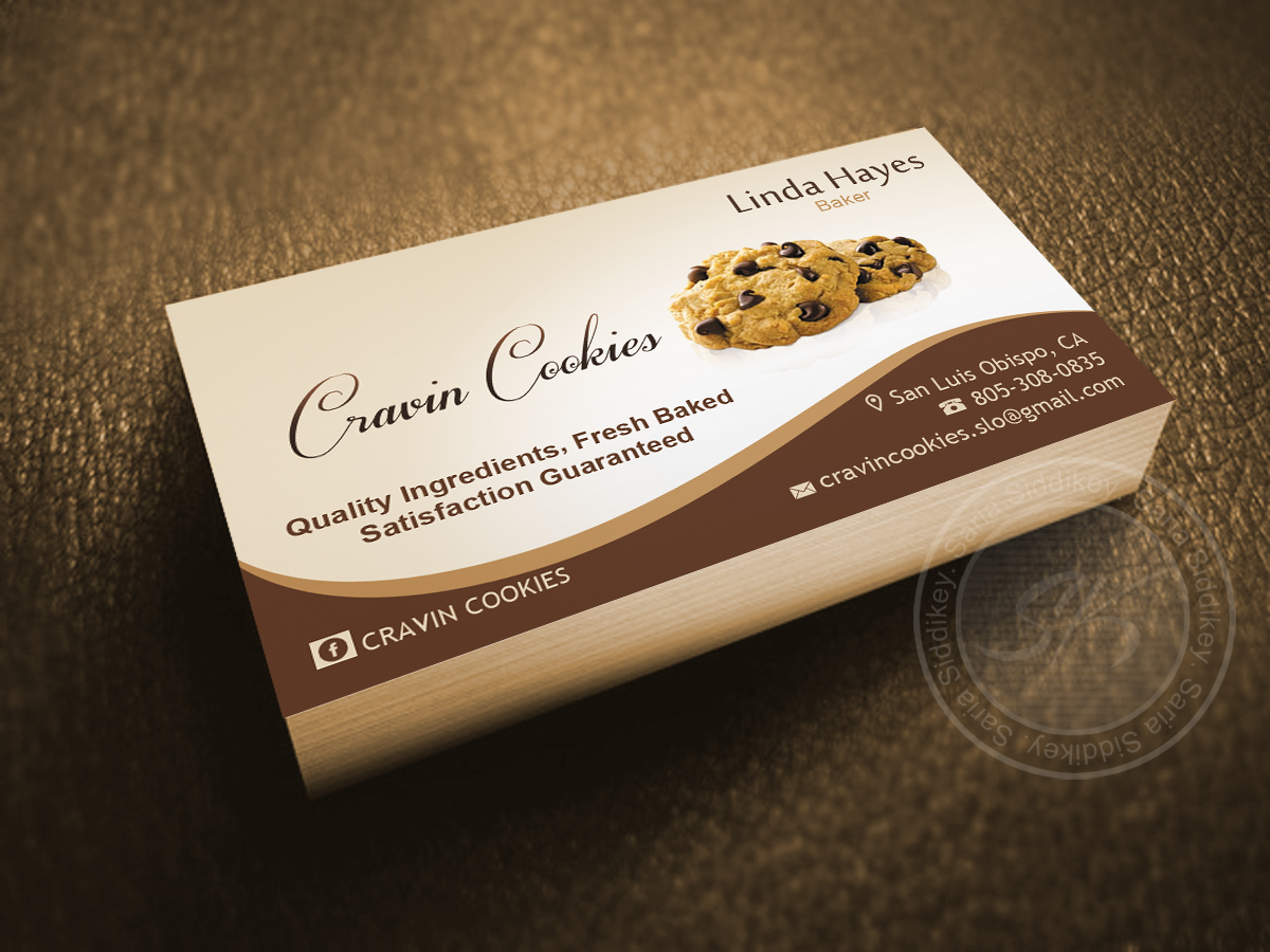 Business Card Design By Saria Siddiqui For Cookie Bakery Need Logo Andbusiness Cards