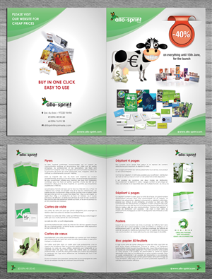 Flyer Design by smart - Advertisement brochure for ALLO-SPRINT.COM an o...