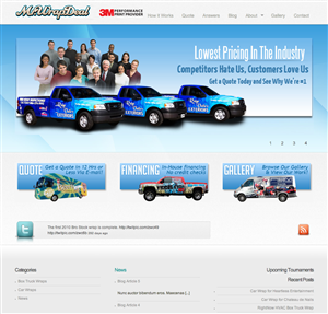 Wordpress Design by Laura Standish - Wordpress theme for Vehicle Graphics Company