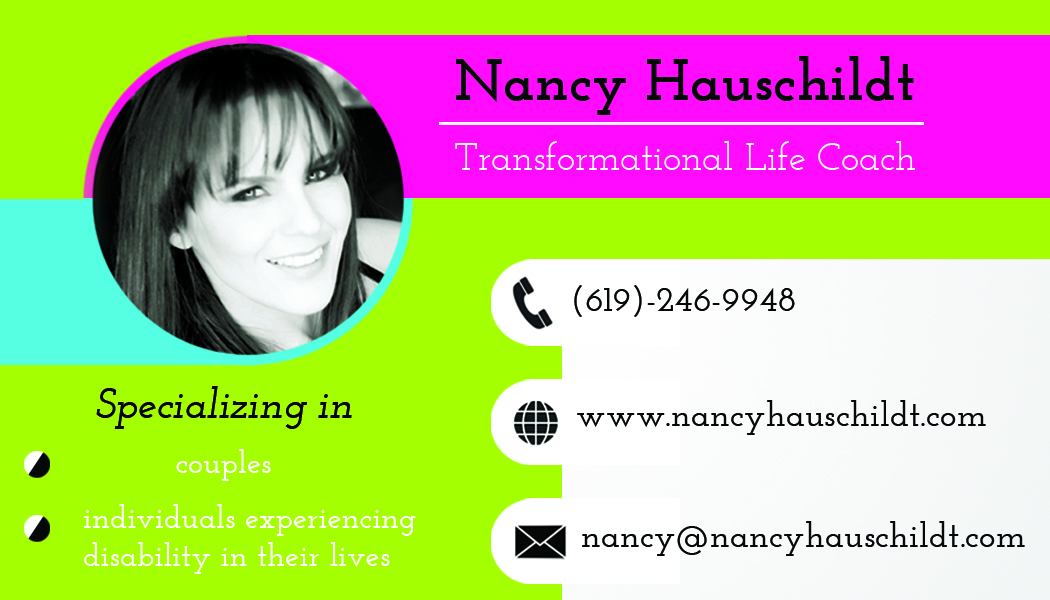 Modern, Bold Business Card Design for Nancy Hauschildt Life ...