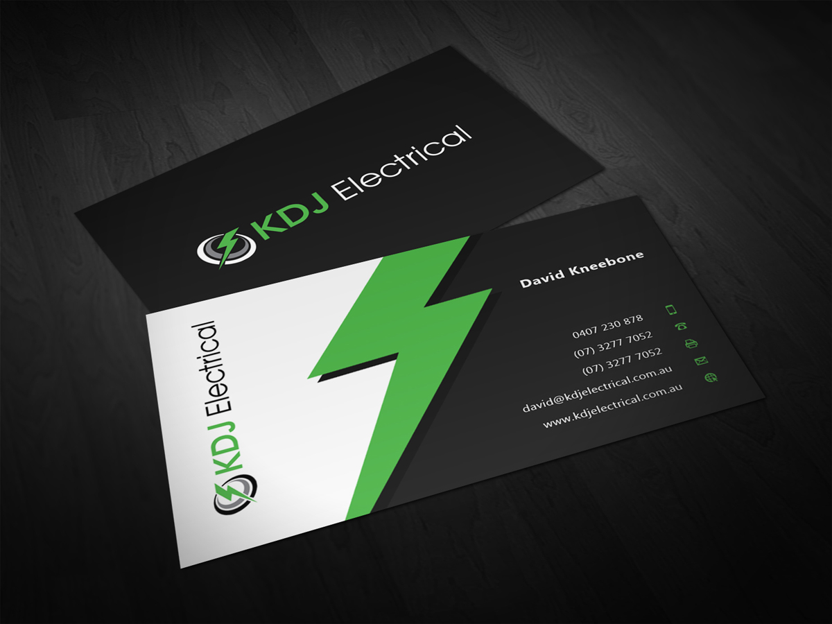 Business card design for kdj electrical by eggo may p design business card design by eggo may p for kdj electrical business card design design magicingreecefo Images