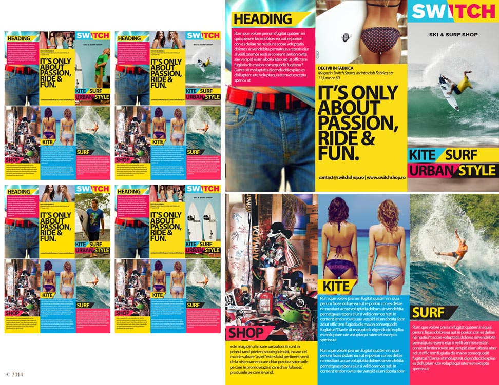 masculine colorful shop brochure design for snow patrol by aus