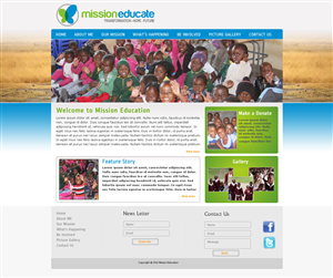 Web Design job – Web Design - Mission Educate Non-Profit Organisation – Winning design by Tanvir