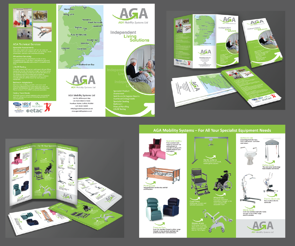 Professional modern it company brochure design for aga for Brochure product design