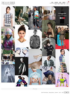 Web Design by NU STUDIO - The Many Sides - alternative fashion made with ...