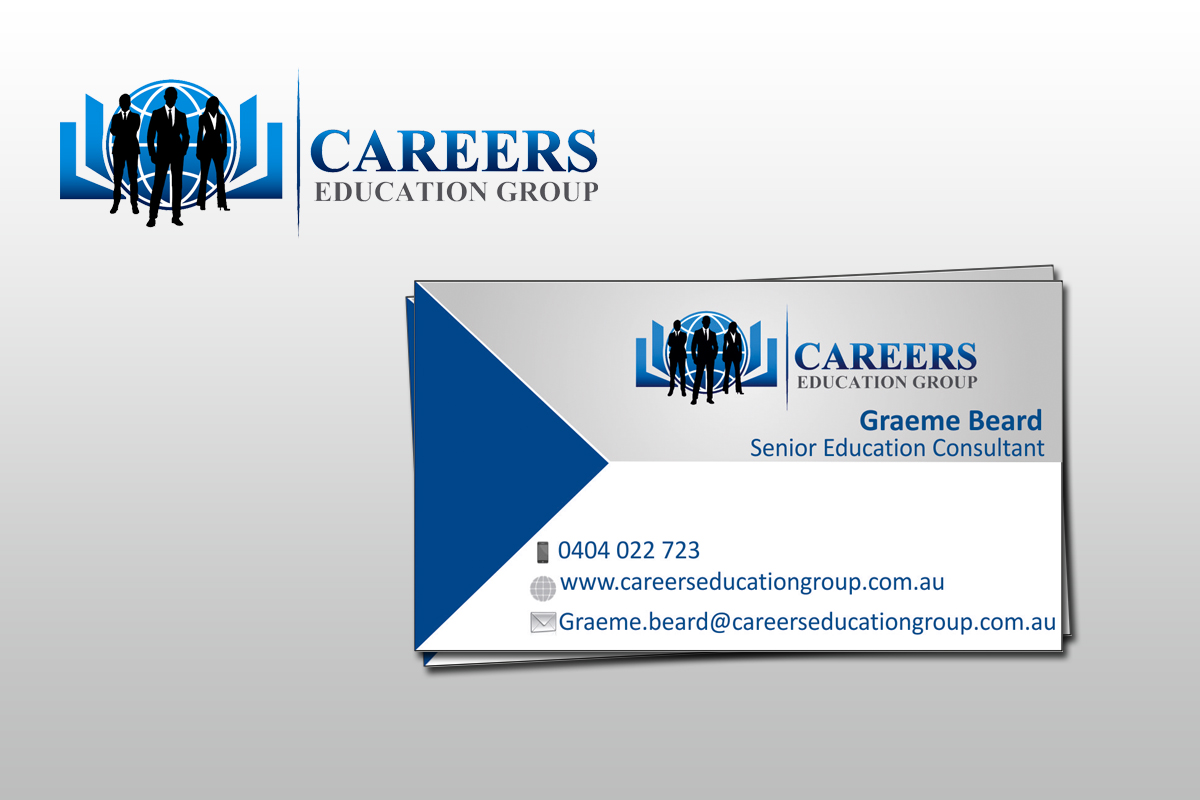 Modern upmarket education business card design for careers business card design by mitesh for careers education group design 3748518 reheart Gallery