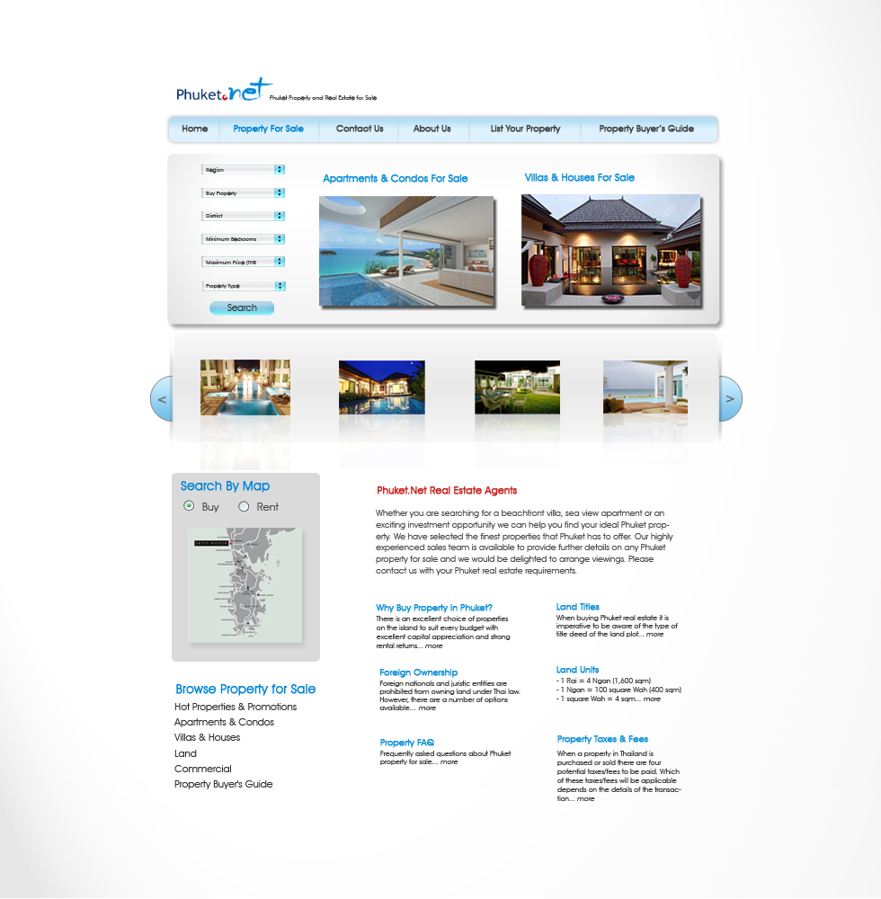 Modern, Upmarket, Real Estate Web Design for a Company by