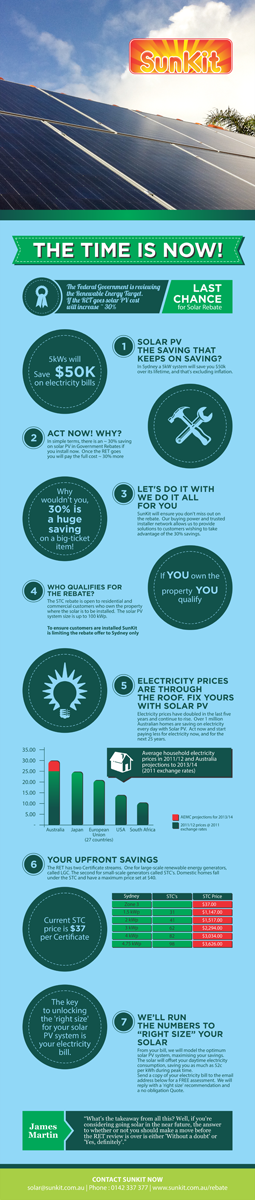 Graphic Design by barinix - Solar Business needs infographic for Act Now Ca...