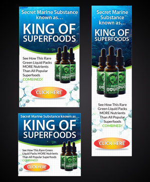 Banner Ad Design by Priyo Subarkah - Banner Ad for Premium Supplement - OCEANS ALIVE