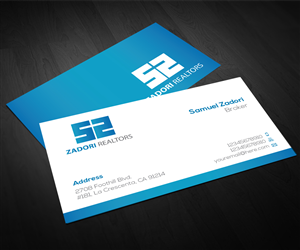 52 professional business card designs real estate business card business card design by aaron for this project design 3732189 reheart Image collections