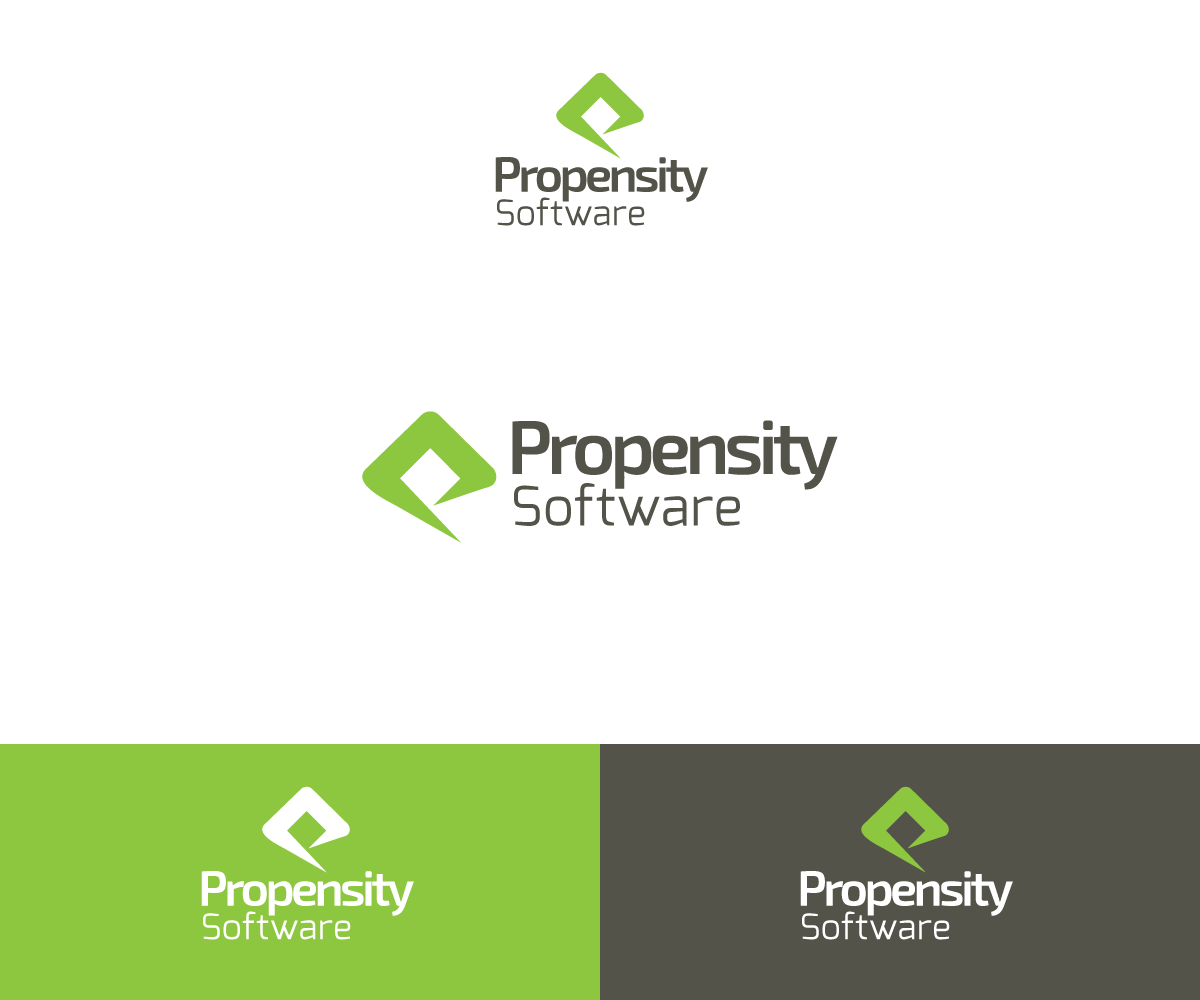 Logo design for propensity software inc by hybryd design for What program to use to design a logo