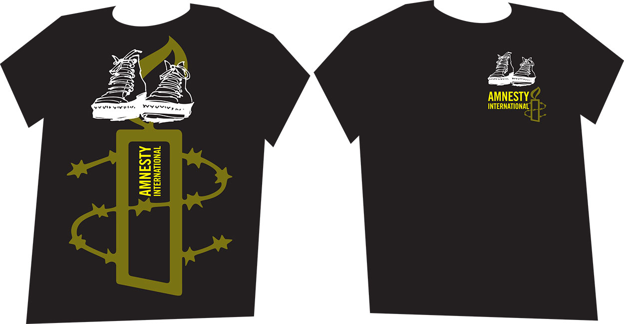 T shirt design for amnesty international australia by for Design t shirts online australia