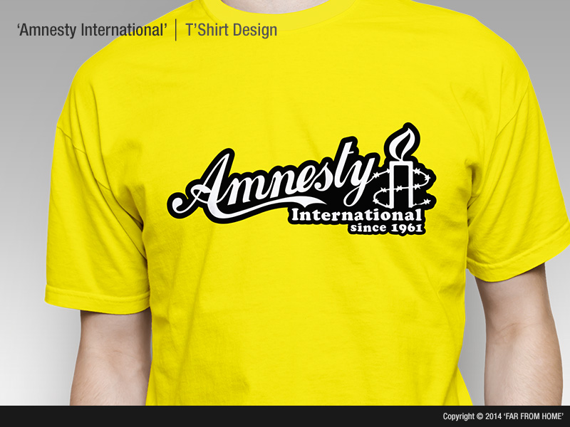 human rights t shirt design for amnesty international