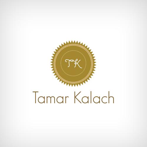 Elegant Feminine Jewelry Logo Design for Tamar Kalach designs by