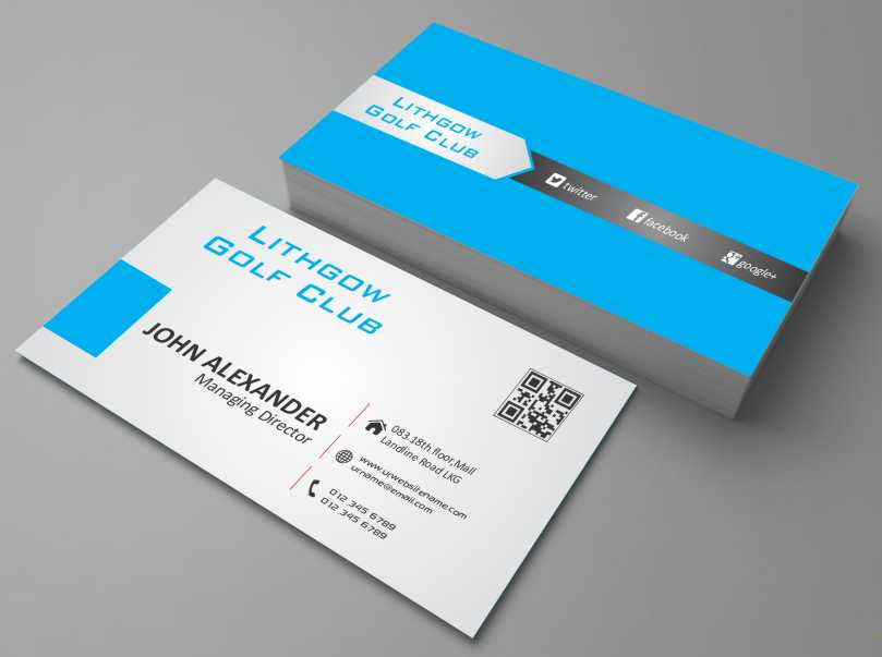 Business Business Card Design for Lithgow Golf Club by AwsomeD ...