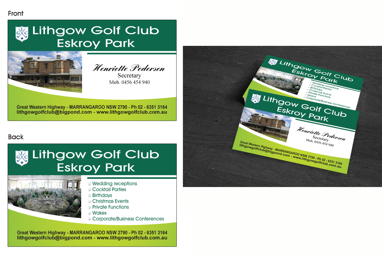 Business Business Card Design for Lithgow Golf Club by Maden ...