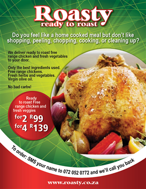 Flyer Design For Prepared Ready To Cook Meal Delivery Service Needs A Flyer Design By Pas
