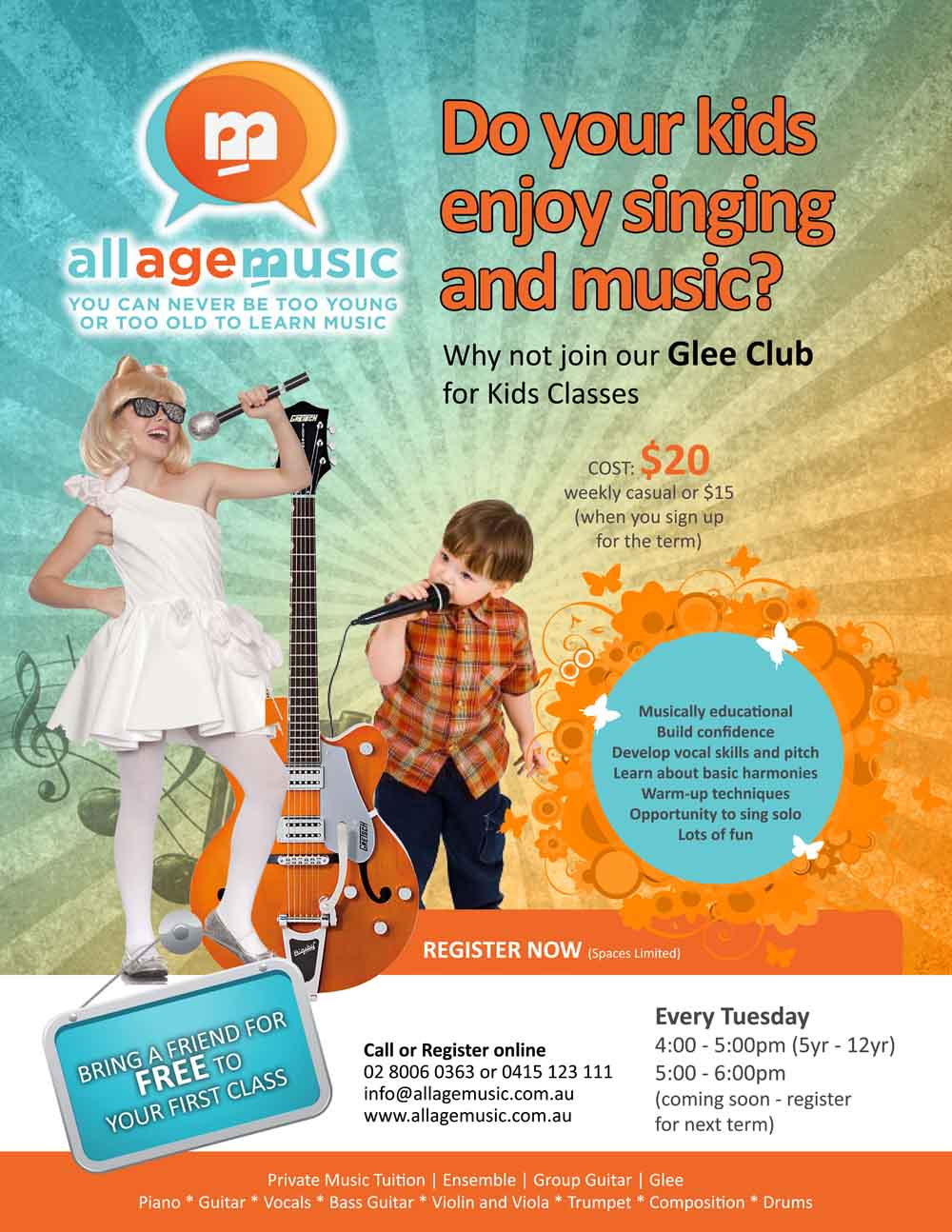 Poster design for class 5 - Poster Design By Qadirkhan For Poster Design To Promote Kid S Glee Club Classses Design