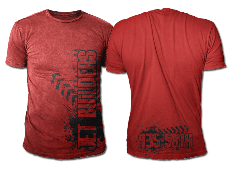 Construction t shirt design for a company by black planet for Corporate t shirt designs