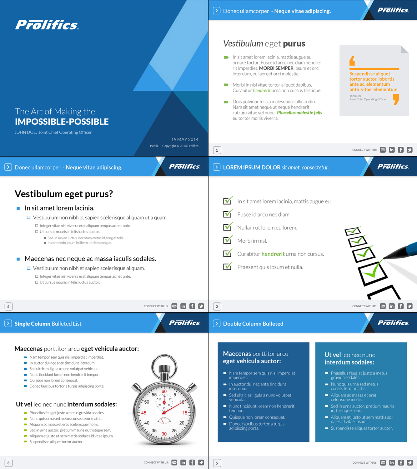 Corporate Powerpoint Template Design: Upmarket, Bold, Business PowerPoint Design For Prolifics