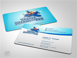 Travel business card design 1000s of travel business card design travel dreams and fun business card reheart Gallery