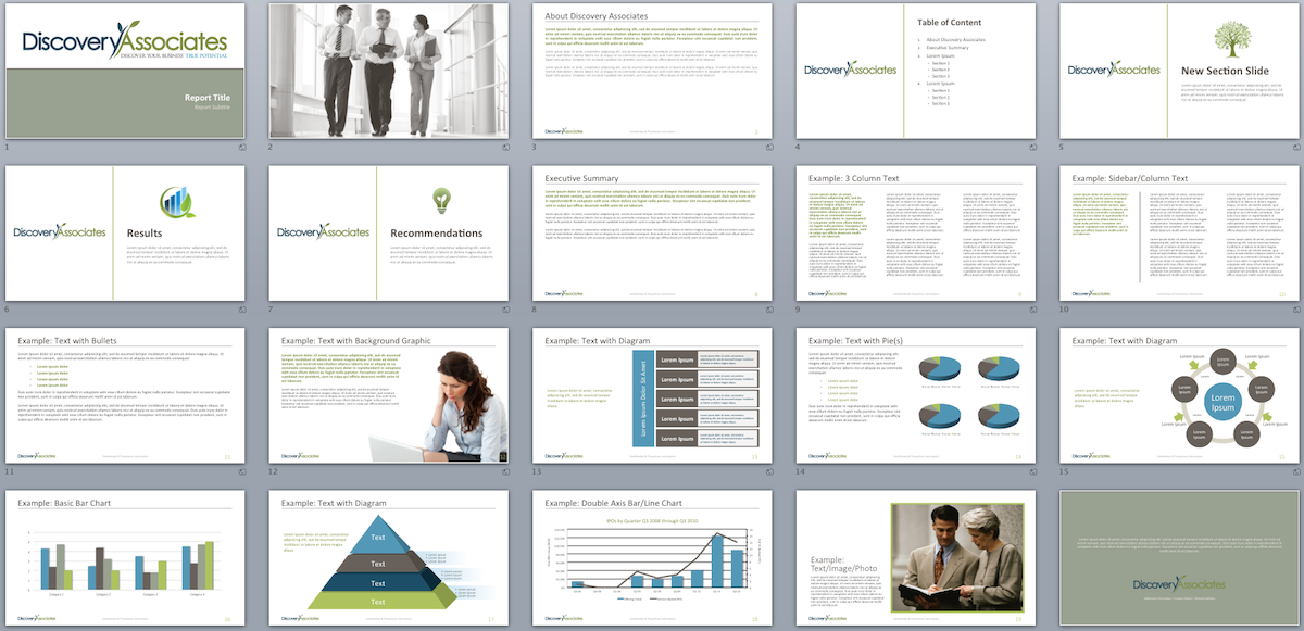 professional  serious  marketing powerpoint design for discovery associates  llc by presenique