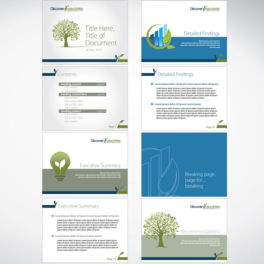 report design template