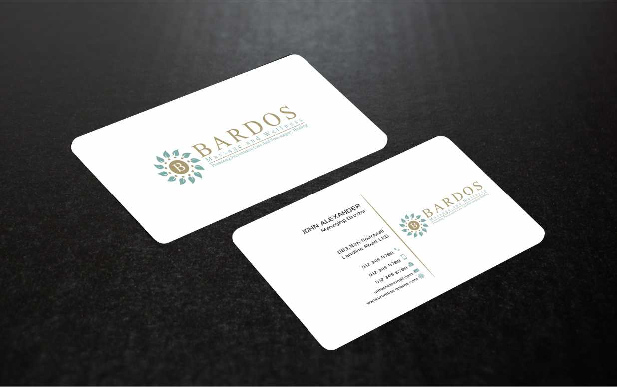 Business Card Design for Bardos Massage and Wellness by Web Special ...