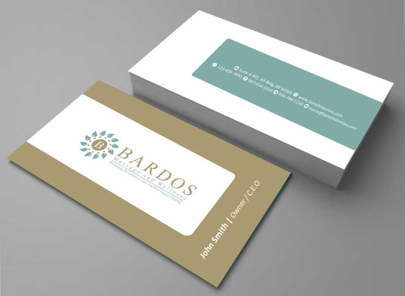 Design De Carte Visite Business Pour Bardos Massage And