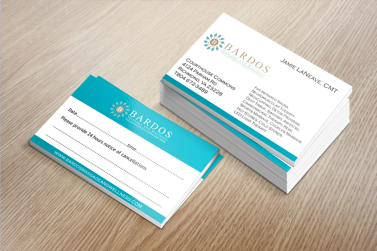 Business business card design for bardos massage and wellness by business business card design for bardos massage and wellness in united states design 3756555 reheart Images