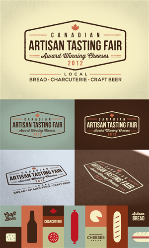 Logo Design by BF - Canadian Artisan Tasting Fair Logo