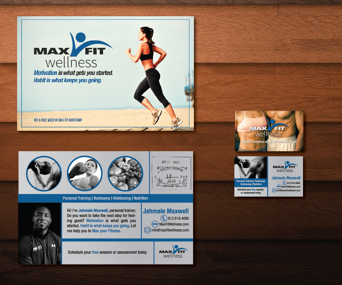 20 Postcard Designs | Business Postcard Design Project for Max Fit ...