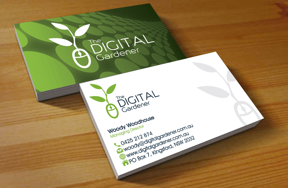business card design for the digital gardener by hardcore design - Garden Design Business Cards