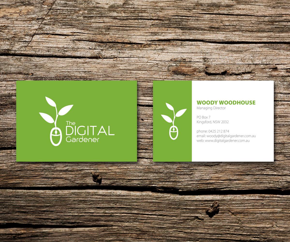 Bold, Modern Business Card Design for The Digital Gardener by ...