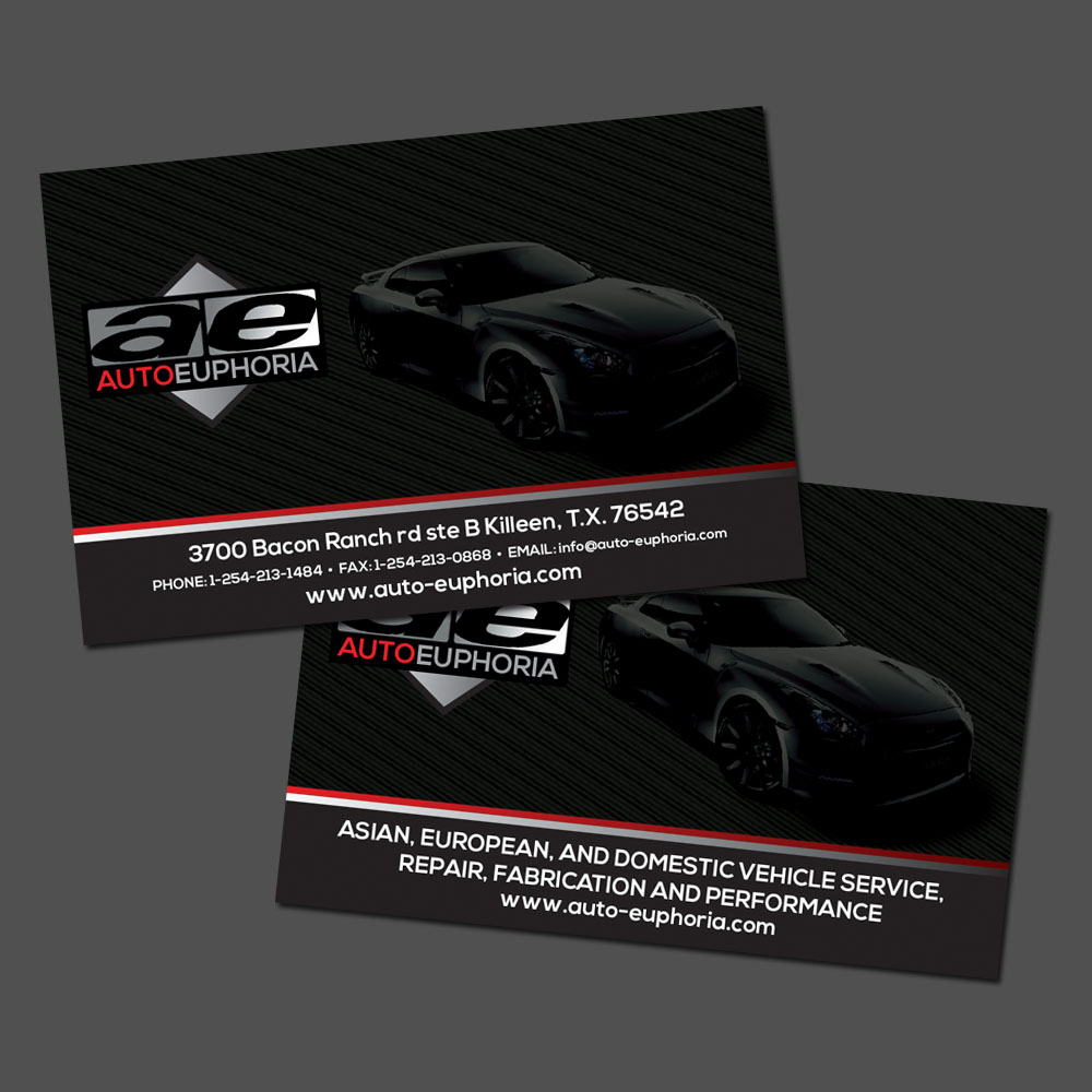 25 Modern Professional Automotive Business Card Designs for a ...