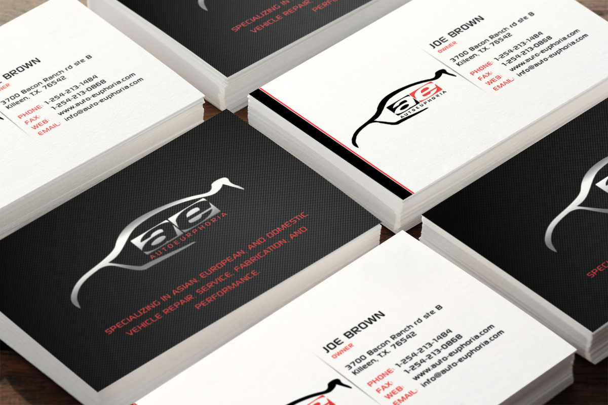 Modern professional automotive business card design for a company business card design by infinitedesign for this project design 3774094 reheart Image collections