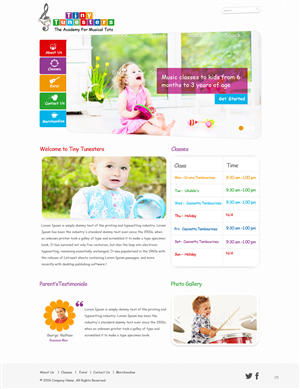 Web Design by pb - Toddler Music Class Bussiness Needs Web Design