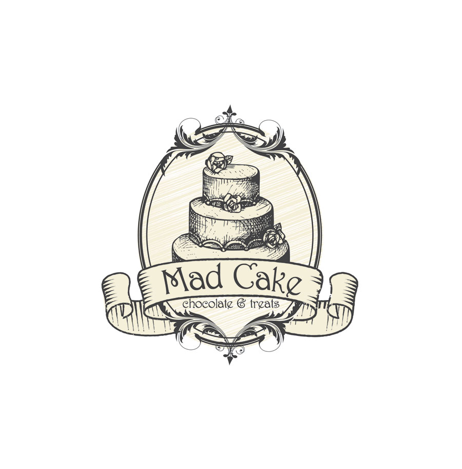 Elegant Traditional It Company Logo Design For Mad Cake House By