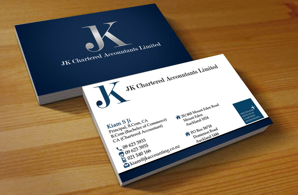 accountants business card